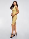 Платье в рубчик с воротником-стойкой oodji #SECTION_NAME# (желтый), 14005138-2/46412/5200N - вид 6