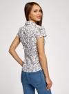 Блузка принтованная из легкой ткани oodji #SECTION_NAME# (слоновая кость), 21407022-7M/12836/1262F - вид 3