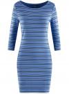 Платье трикотажное базовое oodji для женщины (синий), 14001071-2B/46148/7079S