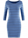 Платье трикотажное базовое oodji #SECTION_NAME# (синий), 14001071-2B/46148/7079S
