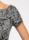 Платье трикотажное принтованное oodji для женщины (черный), 14001117-7/16564/2912O - вид 5