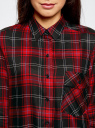 Блузка из вискозы с вышивкой на спине oodji #SECTION_NAME# (красный), 11411171/46974/2945C - вид 4