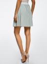 Юбка мини плиссированная oodji для женщины (бирюзовый), 14100080/46609/7391X