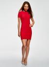 Платье трикотажное с коротким рукавом oodji для женщины (красный), 14011007/45262/4502N - вид 2
