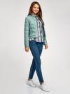 Куртка стеганая с круглым вырезом oodji для женщины (зеленый), 10203050-2B/47020/6C01N - вид 6