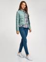 Куртка стеганая с круглым вырезом oodji #SECTION_NAME# (зеленый), 10203050-2B/47020/6C01N - вид 6