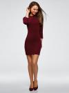 Платье вязаное с рукавом 3/4 oodji для женщины (красный), 63912222-2B/45109/4901N - вид 2