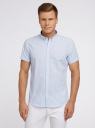 Рубашка клетчатая с коротким рукавом oodji #SECTION_NAME# (белый), 3L210030M/44192N/1070C - вид 2