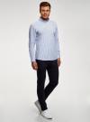 Рубашка хлопковая с длинным рукавом oodji #SECTION_NAME# (белый), 3L110367M/49381N/1075S - вид 6