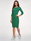 Платье в рубчик с рукавом 3/4 oodji #SECTION_NAME# (зеленый), 14001196/46412/6E00N - вид 6