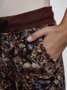 Брюки трикотажные на завязках oodji #SECTION_NAME# (коричневый), 16701042-1/46919/3969U - вид 5