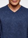 Пуловер вязаный с принтом oodji #SECTION_NAME# (синий), 4L212151M/44326N/7529F - вид 4