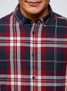 Рубашка клетчатая из хлопка oodji #SECTION_NAME# (синий), 3L310171M/48694N/7945C - вид 4