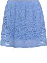 Юбка кружевная с эластичным поясом oodji для женщины (синий), 14101076-2/43805/7000N