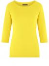 Джемпер базовый с рукавом 3/4 oodji #SECTION_NAME# (желтый), 73812552-1B/45647/5101N