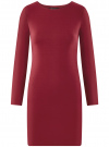 Платье базовое облегающего силуэта oodji #SECTION_NAME# (красный), 14011038B/38261/4903N