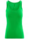 Майка базовая oodji для женщины (зеленый), 14315002B/46154/6A00N - вид 6