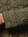 Куртка стеганая с воротником-стойкой oodji #SECTION_NAME# (зеленый), 18304009-2B/48327/6800B - вид 5