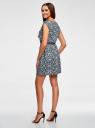 Платье принтованное из вискозы oodji #SECTION_NAME# (синий), 11910073-2/45470/7912F - вид 3