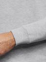 Свитшот хлопковый с круглым вырезом oodji для мужчины (серый), 5B123009M/48823N/2009M