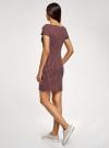 Платье трикотажное принтованное oodji для женщины (красный), 14001117-7/16564/4912G - вид 3
