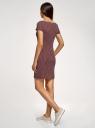 Платье трикотажное принтованное oodji #SECTION_NAME# (красный), 14001117-7/16564/4912G - вид 3
