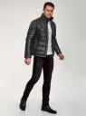Куртка стеганая из искусственной кожи oodji #SECTION_NAME# (черный), 1L111055M/47397N/2900N - вид 6