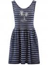Платье трикотажное без рукавов oodji #SECTION_NAME# (синий), 14005132/42865/7910P