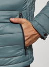 Куртка стеганая с капюшоном oodji #SECTION_NAME# (синий), 1B112009M/25278N/7501N - вид 5