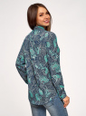 Блузка прямого силуэта с нагрудным карманом oodji #SECTION_NAME# (синий), 11411134-1B/48853/7973E - вид 3