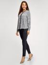 Блузка из струящейся ткани с контрастной отделкой oodji #SECTION_NAME# (серый), 11411059/43414/1029E - вид 6