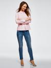 Блузка хлопковая с баской oodji #SECTION_NAME# (розовый), 13K00001-1B/42083/4000N - вид 6