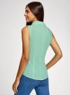 Рубашка базовая без рукавов oodji #SECTION_NAME# (зеленый), 11405063-4B/45510/6500N - вид 3