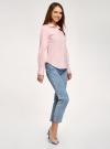 Рубашка хлопковая базовая oodji #SECTION_NAME# (розовый), 13K03001-1B/14885/4005N - вид 6