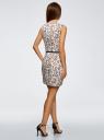 Платье льняное без рукавов oodji #SECTION_NAME# (белый), 12C00002-1B/16009/1231F - вид 3