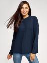 Блузка вискозная А-образного силуэта oodji #SECTION_NAME# (синий), 21411113B/42540/7900N - вид 2