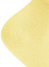 Носки базовые хлопковые oodji для женщины (желтый), 57102466B/47469/5000N - вид 3