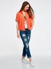 Блузка вискозная с короткими рукавами oodji #SECTION_NAME# (оранжевый), 11411137B/14897/5500N - вид 6