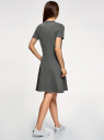 Платье приталенного силуэта на молнии oodji #SECTION_NAME# (серый), 14001226-1/48881/2510Z - вид 3
