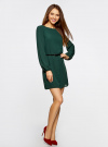 Платье из шифона с ремнем oodji для женщины (зеленый), 11900150-5B/32823/6900N - вид 6