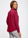 Блузка базовая из вискозы с нагрудными карманами oodji #SECTION_NAME# (красный), 11411127B/26346/4900N - вид 3