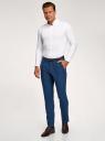 Рубашка базовая приталенная oodji #SECTION_NAME# (белый), 3B140002M/34146N/1000N - вид 6