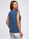 Блузка с короткими рукавами и нагрудными карманами oodji #SECTION_NAME# (синий), 21412132-2B/24681/7910G - вид 3