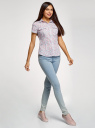 Рубашка хлопковая с нагрудными карманами oodji для женщины (слоновая кость), 11402084-3B/12836/1241F