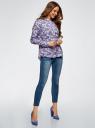 Блузка вискозная А-образного силуэта oodji для женщины (синий), 21411113B/26346/7041E