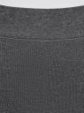 Легинсы с контрастной резинкой oodji для женщины (серый), 18700059/47618/2500Z