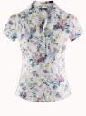Блузка принтованная из легкой ткани oodji #SECTION_NAME# (белый), 21407022-9/12836/1019F