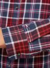 Рубашка принтованная хлопковая oodji #SECTION_NAME# (красный), 11406019/43593/4979C - вид 5