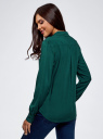 Блузка базовая из вискозы oodji #SECTION_NAME# (зеленый), 11411136B/26346/6E02N - вид 3