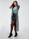 Юбка из искусственной кожи на молнии oodji для женщины (черный), 18H05012/46534/2900N